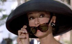 Breakfast-at-Tiffanys_Audrey-Hepburn_black-hat-sunglasses Ruby Lane blog