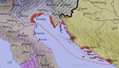 Venesie het tydens die Kruistogte gegroei tot die voorste handelstad en was in die 13de eeu die rykste stad in Europa. Venesie is gelee in die Adriatiese See, en het omvattende handel gedryf met die Bizantynse Ryk en die Moslem-wereld.  Venesie is vandag 'n werelderfenisgebied. Hierdie kaart toon die Veniese gebied rondom die jaar 1000.
