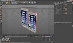 iphone 8 gold 3D model