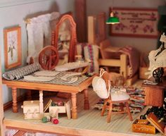 "Here is my biggest dollhouse. My husband has made it and it is made from elm.  It has 18 rooms and it calls ""Väinölä""             It takes ..."