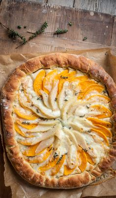 Pear and gorgonzola are a perfect combination – the sour taste of blue cheese and the sweetness of the fruit creating a flavour harmony that hits the right note. Butternut squash adds a rustic earthiness to Adam Byatt's pear and gorgonzola flatbread tart.