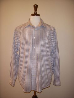 FACONNABLE JEANS FACO CLUB SHIRT Plaid Check XL #Faonnable #ButtonFront