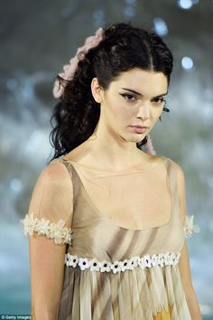 What's in a name? The theme of Fendi's 90th anniversary show may have been Legends and Fairytales, but it could just as easily been Girls With Epic Curls - as seen on Kendall Jenner, 20, here