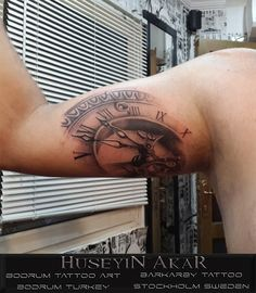 clock tattoo saat dövmesi black and gray tattoo half sleeve tattoo bodrum tattoo huseyin akar barkarby tattoo bodrum tattoo art huseyin akar bodrum dövme sanati tatuering tatuerare