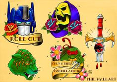 TechArtGeek • Themed Tattoo Flash sheets based on pop culture....