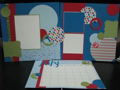stampin up scrapbooking layouts | This layout was created for my monthly Scrapbook / Calendar club.
