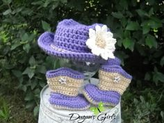 Crochet by Dugan's Girls {Boot Scoot'n Cowboy hat & boots}