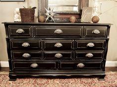 DIY black dresser! You could makeover her current dresser!