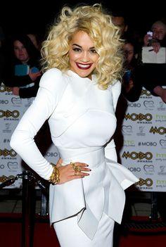 Rita Ora at the MOBOs 2012 - gorgeous hair
