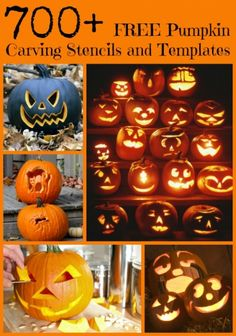 FREE Pumpkin Carving Stencils and Templates