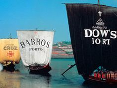 Port wine ships on the Douro River in Portugal