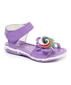 Look what I found on #zulily! Purple Swirl Sandal by Amy #zulilyfinds