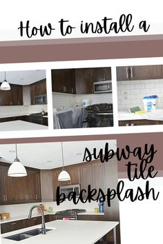 How to install a subway tile kitchen backsplash Transitional Home Decor, Transitional Living Rooms, Contemporary Home Decor, White Subway Tile Backsplash, Subway Tile Kitchen, Kitchen Backsplash, Classic Home Decor, Home Improvement Projects, Furniture Makeover