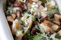 Veganer Kartoffelsalat mit Champignons und Rucola. Ein Rezept von meinesvenja.de