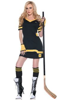 Sexy Hockey Player Costume #bruinscolors #halloween #maybe