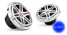 JL Audio Marine 6.5-inch coaxials (pr): Sport Grille, Chrome, with LED illumination (Blue)