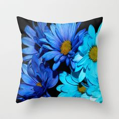 Blue   Throw Pillow by Veronica Ventress - $20.00