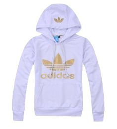 adidas hoodie white gold via Luxury store. Click on the image to see more!