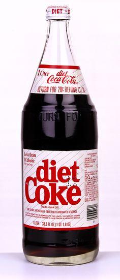 1982 One Liter Glass Bottle
