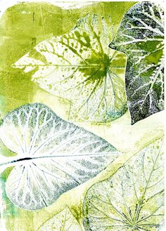 Vineland As a printmaker I have always been interested in capturing my surroundings with ink and paper. This print was created by . Gelli Plate Printing, Gelli Arts, Plate Art, Green Art, Blue Green, Nature Prints, Leaf Art, Art Plastique, Botanical Art