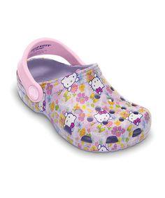 e38feb7801158 Crocs Lavender   Bubble Gum Hello Kitty Clog. Kid ...