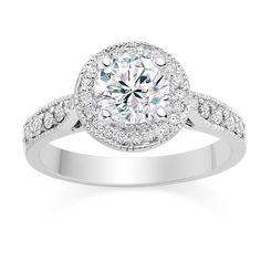 .75 Carat Engagement Ring Gold Band 39