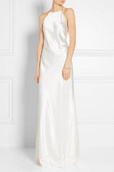 Calvin Klein Collection - Silk-satin Gown - Ivory