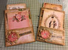 Envelope pockets I made for journals