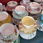 beautiful tea cups...these remind me of my Grandma Hall. She had the biggest collection of tea cups, and every grandchild got to drink tea from a special one of their choosing when they visited. :) <3