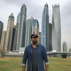 نفس الطول تقريبا 🏩 #dubai #dubaimarina #skydivedubai #syria #syrians #actor #bassemyakhour