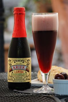 ❤ Lindemans Kriek (Cherry) Lambic beer: One of the many Belgian Lambic beers that are lightly effervescent, tart/sweet double brewed fruit beers, with the wonderful taste and aroma of the fruit (another very special favorite is their 'Framboise' raspberry flavor, and they both go well with Chocolate desserts). You will probably love them and the other flavors, if you enjoy fruity, sweet to semi-dry hard ciders!
