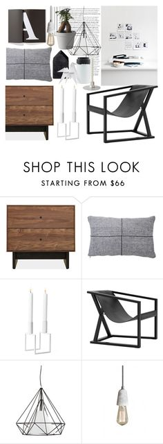 """Urban Retro"" by sofiehoff on Polyvore featuring interior, interiors, interior design, home, home decor, interior decorating, By Lassen, Dot & Bo, Muuto and Remington"