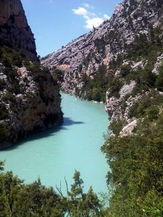 Gorges du Verdon. U would think the colour of the river is photoshopped but it really is so in reality!
