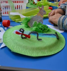 A nature Diorama on a paper plate. Could do any other scene, an alien planet maybe?