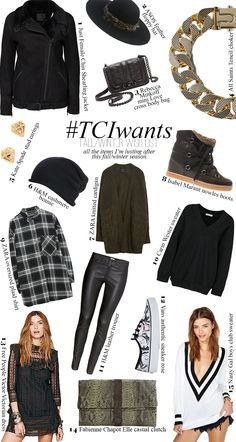 FALL/WINTER WISH LIST 2014 | TheChicItalian | The items I'm craving & need this season from Isabel Marant Nowles boots to H&M leather trousers