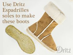 Dritz Espadrilles Sewing Tutorial: New Sherpa Suede Boots Sewing Patterns Sewing Patterns Free, Free Sewing, Sewing Tutorials, Sewing Projects, Socks And Sandals, Slipper Boots, Minimalist Wardrobe, Suede Fabric, Crochet Slippers