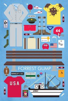 Forest Gump movie parts poster