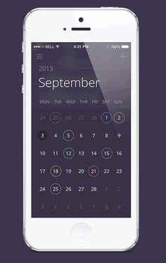 Mobile App Design Inspiration – Calendar