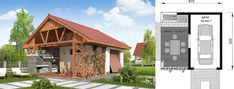 Projekt domu BW-32 wariant 1 133,7 m2 - koszt budowy - EXTRADOM Home Fashion, Cabin, House Styles, Home Decor, Little Cottages, Homemade Home Decor, Decoration Home, Room Decor, Cottage
