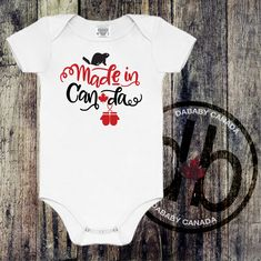 Made In Canada Bodysuit - Toddler Canada Day T-shirt - Family Canada Day Shirts - Mens and Ladies Made in Canada Shirts - Canada Day Tee - Baby Wear Family Shirts, Shirts For Girls, Canada Day Shirts, Funny Baby Shower Gifts, Take Home Outfit, Baby Wearing, Kids Wear, Tees, Baby Rompers