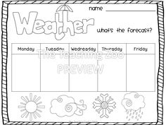 Weather Forecast (Part of a HUGE pack!)