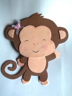 healthy snacks for preschoolers and toddlers worksheets kids Foam Crafts, Preschool Crafts, Diy And Crafts, Crafts For Kids, Arts And Crafts, Paper Crafts, Monkey Crafts, Baby Shawer, Jungle Party