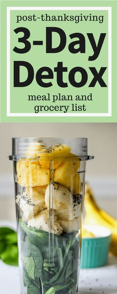Healthy Detox, Healthy Drinks, Eating Healthy, Healthy Meals, Healthy Recipes, Detox To Lose Weight, Detox Meal Plan, 3 Day Detox, Smoothie Cleanse