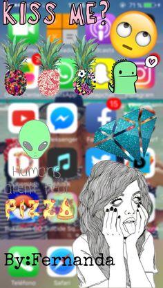 Fondo de pantalla tumbrl para iPhone fácil con picsArt