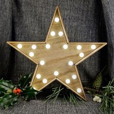 This gorgeous wooden star features some fabulous battery operated led bulbs and is perfect for adding a quirky touch of charm to any room in the home