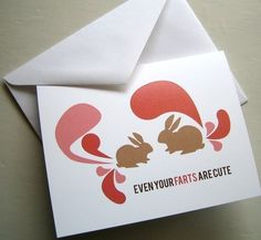 'Even Your Farts are Cute' by thebeautifulproject (etsy.com)