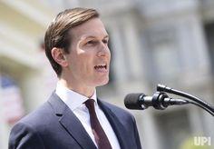 Jared Kushner, President Trump's son-in-law and senior advisor, speaks to the media outside the White House after Kushner met with the…