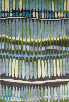 fire island blue/green rug by emma gardner Motifs Textiles, Textile Patterns, Color Patterns, Print Patterns, Surface Design, Stoff Design, Fire Island, Beautiful Patterns, Rugs On Carpet