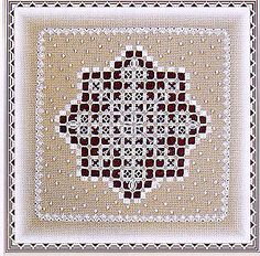 Hardanger Snowflake From A Stitch In Time Designs - - - Casa Cenina Hardanger Embroidery, Embroidery Stitches, Embroidery Patterns, Hand Embroidery, Sewing Patterns, Types Of Embroidery, Learn Embroidery, Bookmark Craft, Drawn Thread