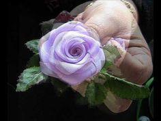 HOW TO --- Make Silk Ribbon Roses